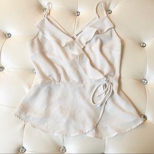 Adorable Faux Wrap Top Work Wear